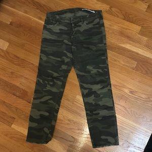 Zara green camo jeans